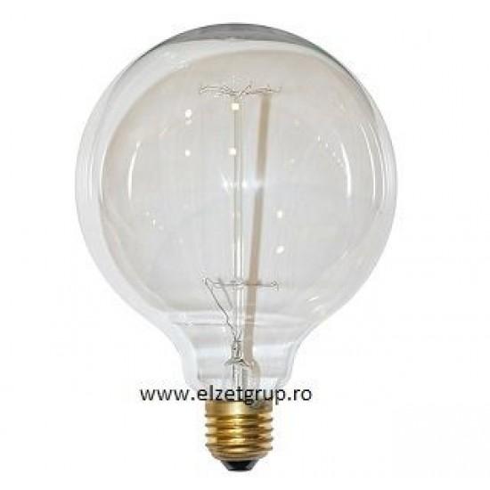 Bec 40W E27 Decorativ Edison Glob G125 Lumen