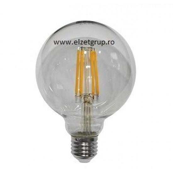 Bec led 10W E27 COG Decorativ G95 GLOB CLAR Lumen
