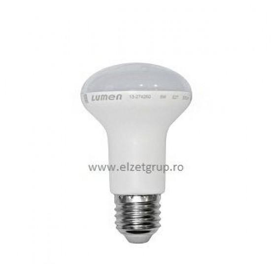 Bec led 10W E27 R63 Spot Alb Rece Lumen