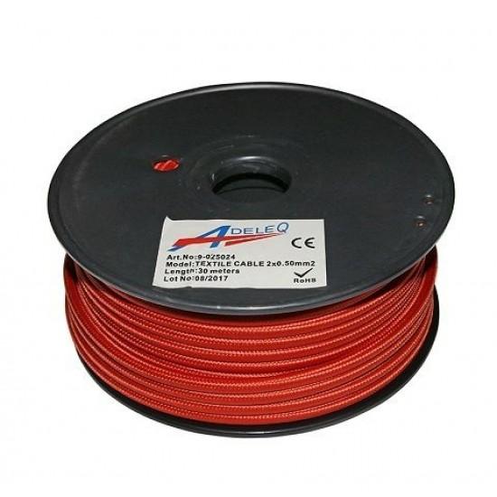 Cablu textil colorat 2x0.5 cupru 9-025024