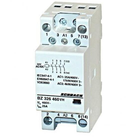 Contactor modular 25A 2M 24Vca&cc Schrack