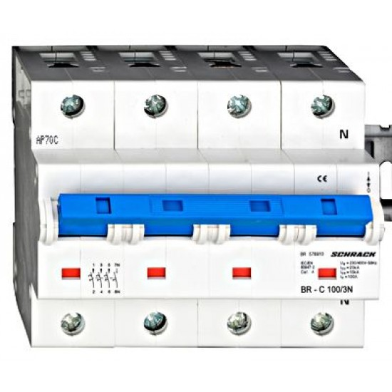 Disjunctor tetrapolar 100A 3P+N 20KA Schrack Technik