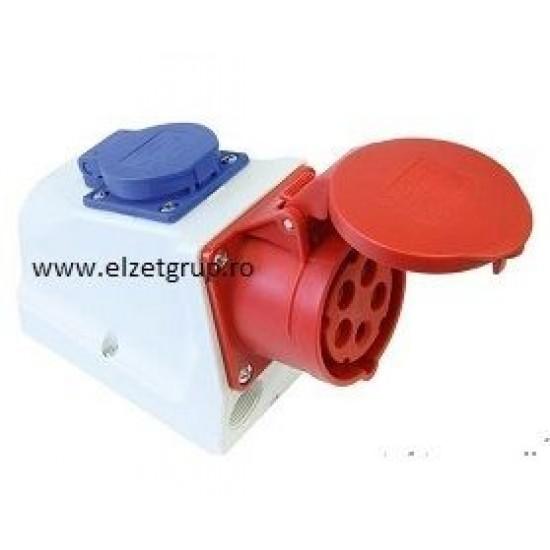 Priza industriala combo 16A-230V/380V PCE
