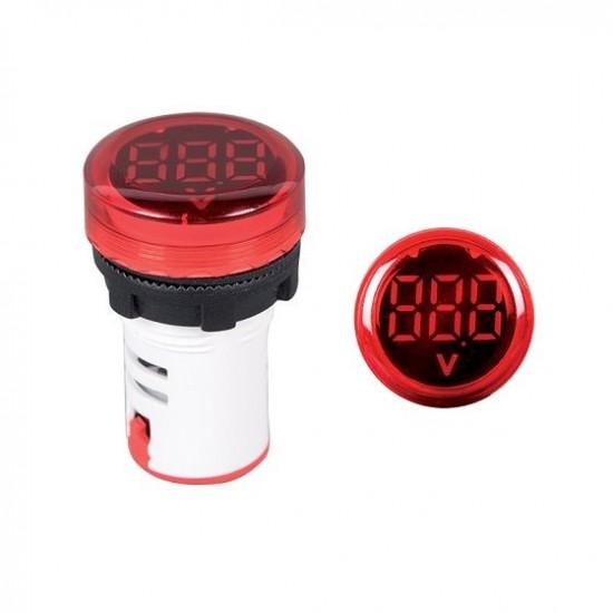 Voltmetru digital rotund 12-500V D22mm