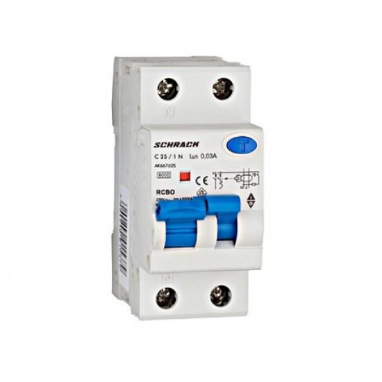 Diferential 1P+N 25A 30mA Schrack Technik