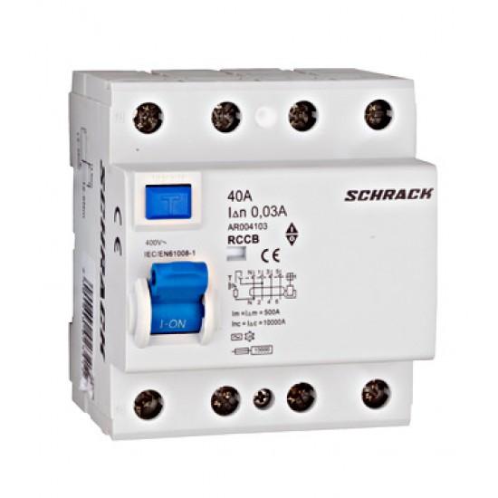 Diferential 4P 40A 30mA Schrack Technik