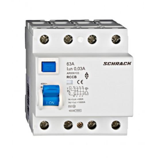 Diferential 4P 63A 30mA Schrack Technik